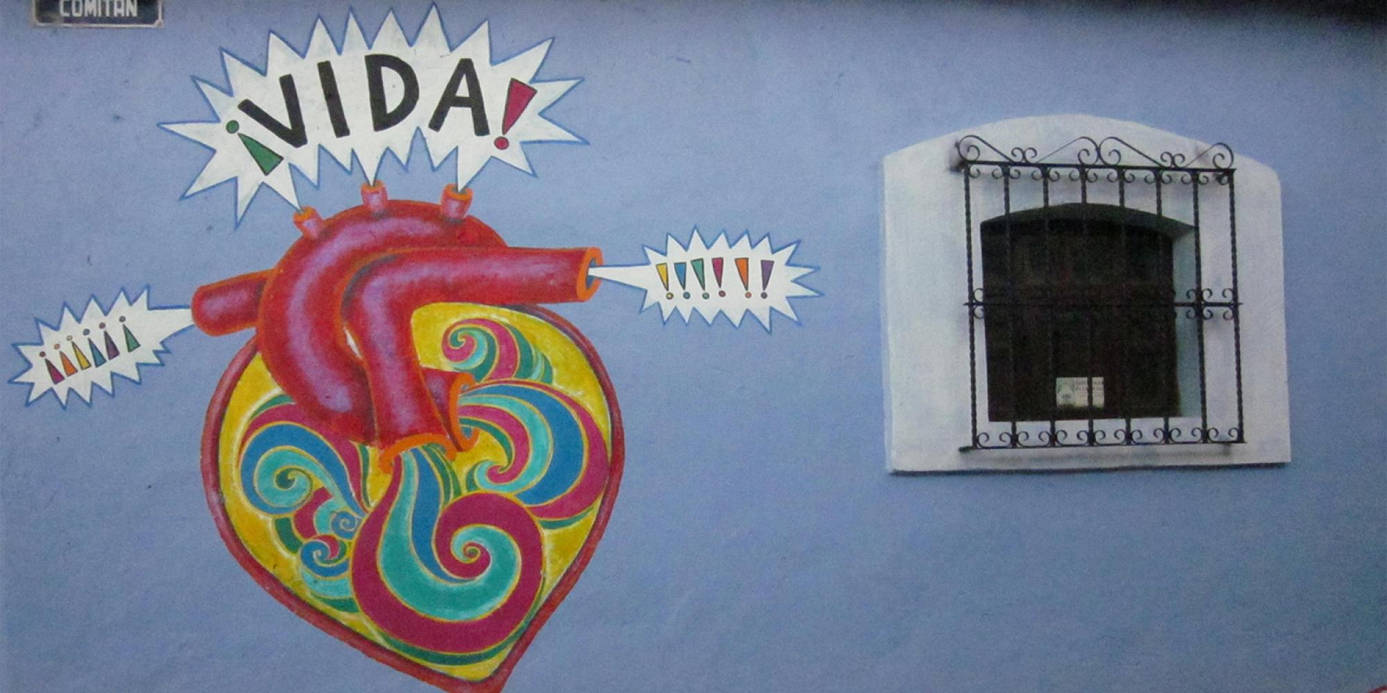 Wall art of a heart